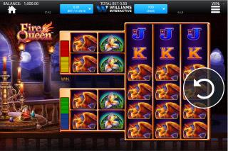 Fire Queen Mobile Slot Screenshot