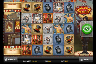 Golden Ticket Mobile Slot Screenshot