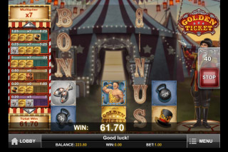 Golden Ticket Slot Win