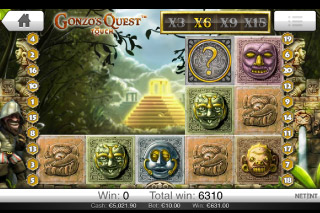 Gonzo's Quest Mobile Slot Cascading Reels
