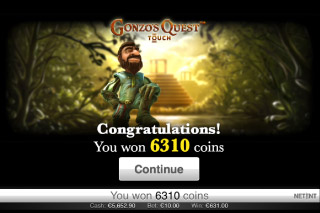 Gonzo's Quest Mobile Slot Big Win