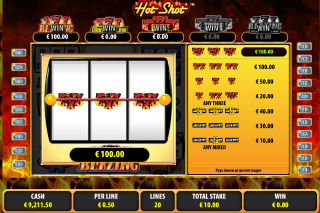 Hot Shot Slot Progressive Win