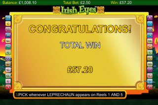 Irish Eyes Slot Free Spins Win