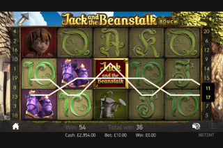 Jack and the Beanstalk Mobile Slot Screenshot