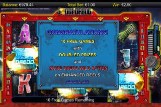 Judge Dredd Mobile Slot Free Spins
