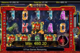 Judge Dredd Mobile Slot Free Spins Win