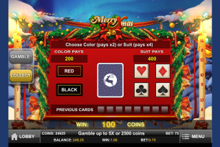 Merry Xmas Mobile Slot Gamble Feature