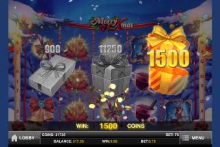 Merry Xmas Mobile Slot Pick Me Bonus