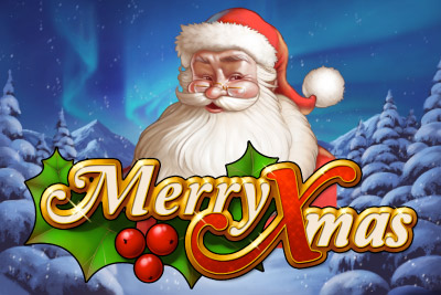 Merry Xmas Mobile Slot Logo