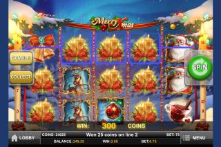 Merry Xmas Mobile Slot Screenshot