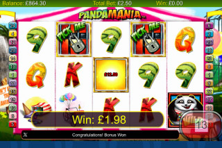 Pandamania Mobile Slot Pick Me Bonus