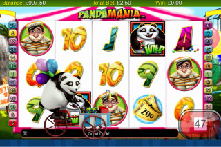 Pandamania Mobile Slot Screenshot