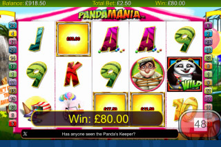 Pandamania Mobile Slot Win