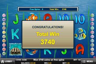 Pearl Lagoon Slot Free Spins Win