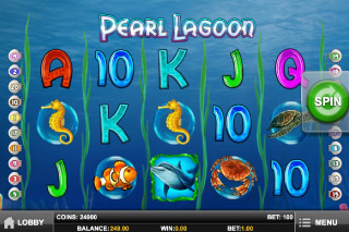 Pearl Lagoon Mobile Slot Screenshot