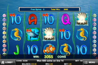 Pearl Lagoon Slot Wilds & Free Spins
