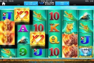 Raging Rhino Mobile Slot Screenshot