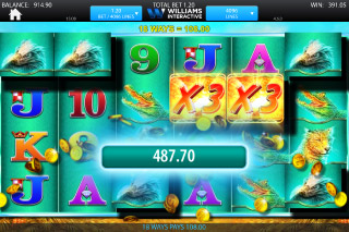 Raging Rhino Mobile Slot Big Win