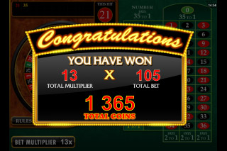 Riviera Riches Slot Roulette Win