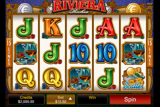 Riviera Riches Mobile Slot Screenshot