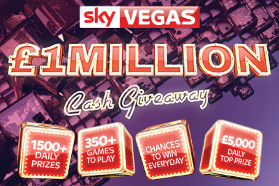 Win Daily Cash with Sky Vegas Mobile Casino €£1 Million Giveaway