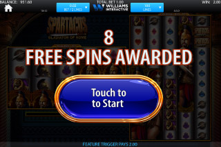 Spartacus Mobile Slot Free Spins