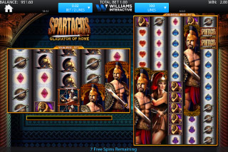 Spartacus Mobile Slot Free Spins Round