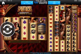 Spartacus Mobile Slot Screenshot
