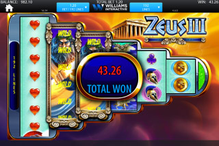 Zeus 3 Mobile Slot Free Spins Win