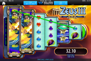 Zeus 3 Mobile Slot Free Spins Round