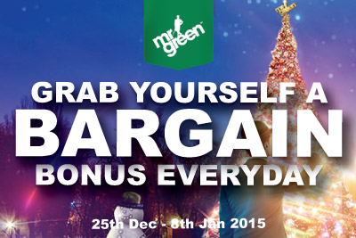 Grab Yourself a Bargain Casino Bonus Everyday Until 8th Jan 2015