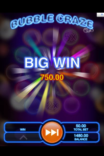 Bubble Craze Mobile Slot Big Win