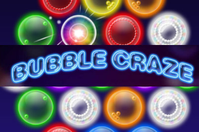 Bubble Craze Mobile Slot Logo