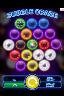 Bubble Craze Mobile Slot Screenshot