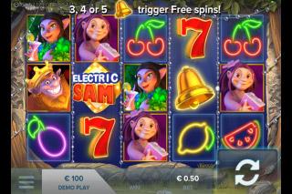 Electric Sam Mobile Slot Screenshot