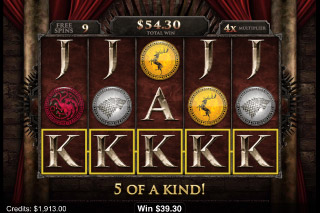 Game of Thrones Mobile Slot 5 of Kind Win