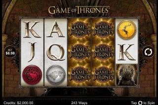 Game of Thrones Mobile Slot Screenshot