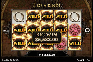 Game of Thrones Mobile Slot Big Win