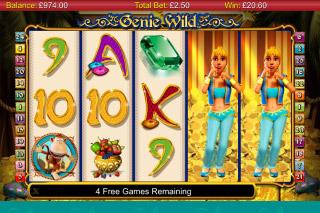 Genie Wild Slot Expanding Wilds
