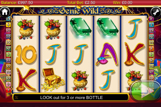 Genie Wild Mobile Slot Screenshot