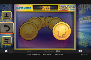 Jackpot 6000 Mobile Slot Gamble Feature