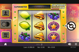 Jackpot 6000 Mobile Slot Screenshot