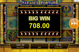 Pharaohs Fortune Mobile Slot Big Win