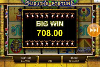 Pharaohs Fortune Mobile Slot Big Win