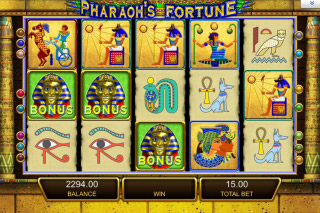 Pharaohs Fortune Mobile Slot Screenshot