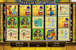 Pharaohs Fortune Mobile Slot Screenshot