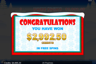 Santa Paws Mobile Slot Free Spins Win