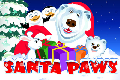 Santa Paws Mobile Slot Logo