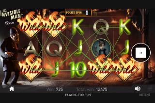The Invisible Man Slot Burning Wilds Bonus