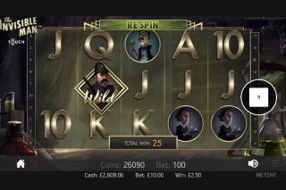 The Invisible Man Slot Screenshot